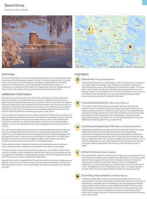 Example Destination Travel Planner