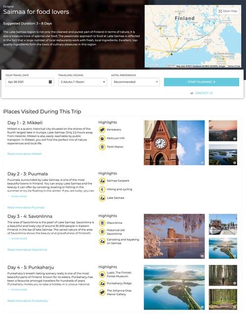 Example Round Trip Travel Planner