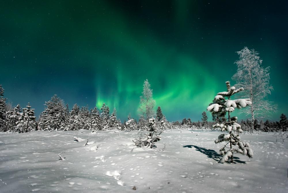 Oulun Sukelluskeskus Winteraktivwoche Nordlichter