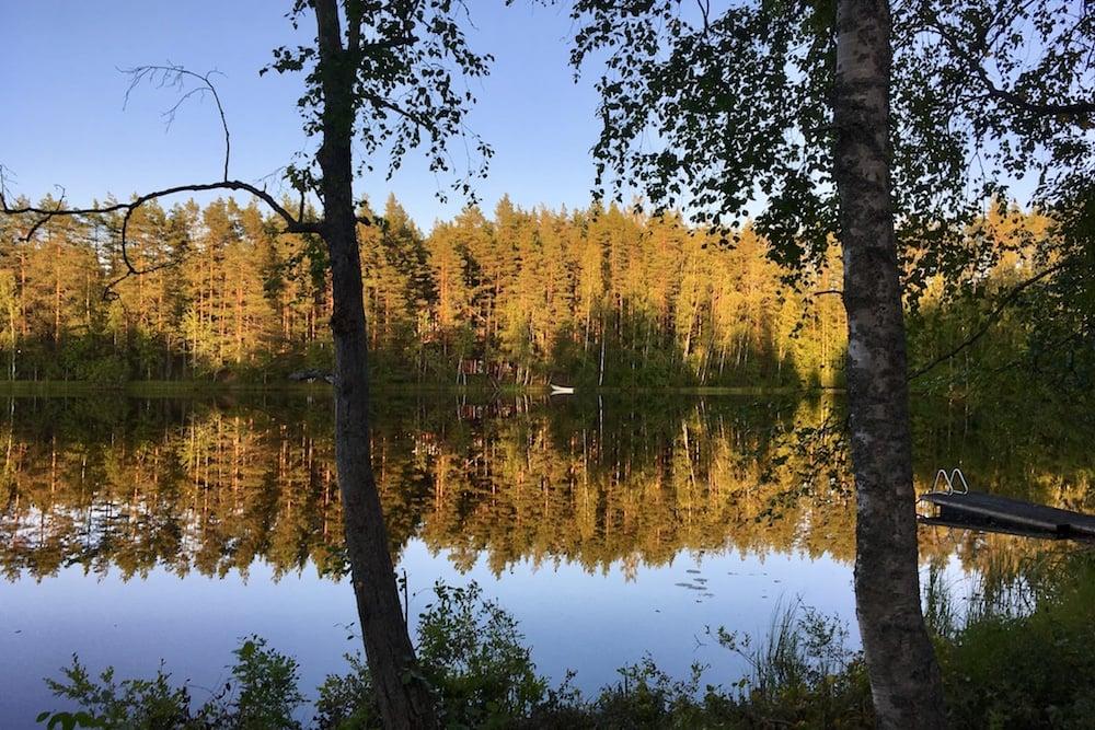 Calmness of a Finnish lake