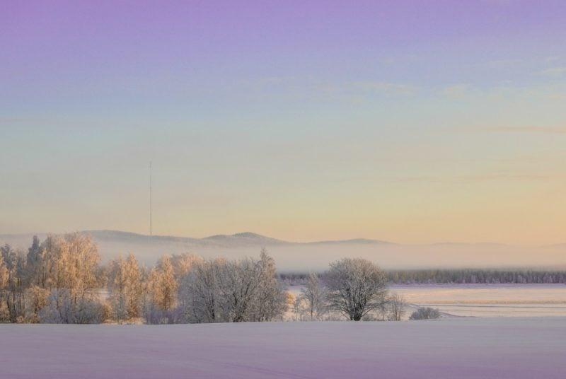 Winterlandschaft in Vuokatti