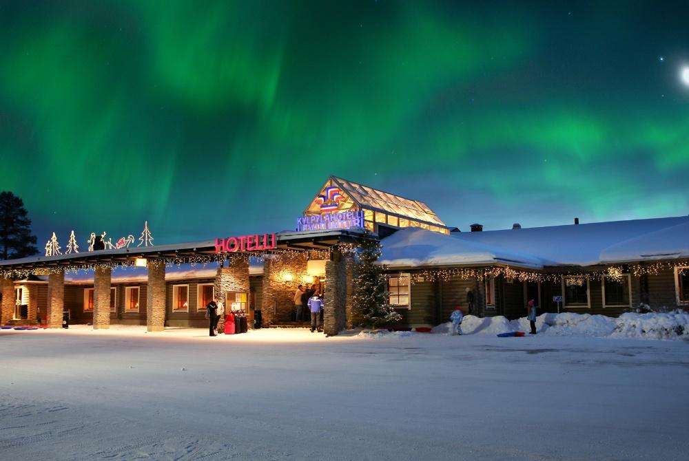 Spa Hotel Levitunturi Winter Außenaufnahme