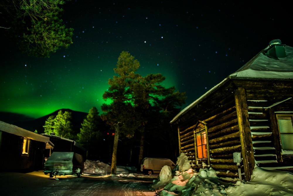 Stora Sjöfallet Winter Nordlichter