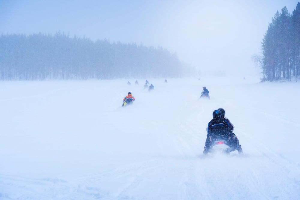Umeå - Forsknäckarna - Motorschlittensafari, Snowmobil
