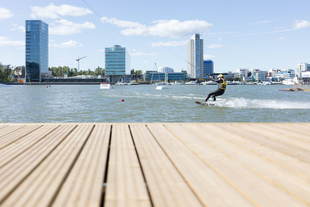 Finnland Espoo Water Sport Centre Laguuni