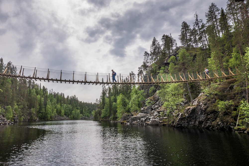 Wild Taiga Canyon Lake Suspension Brinde Hossa National Park - Travel Dudes