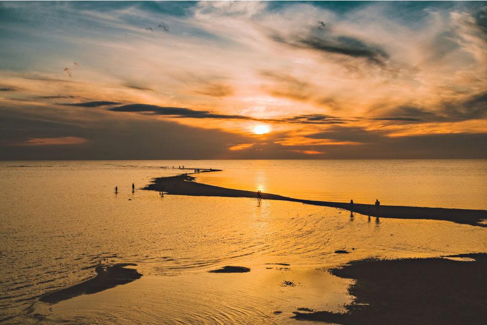 Visit Kalajoki-sundown at the sea