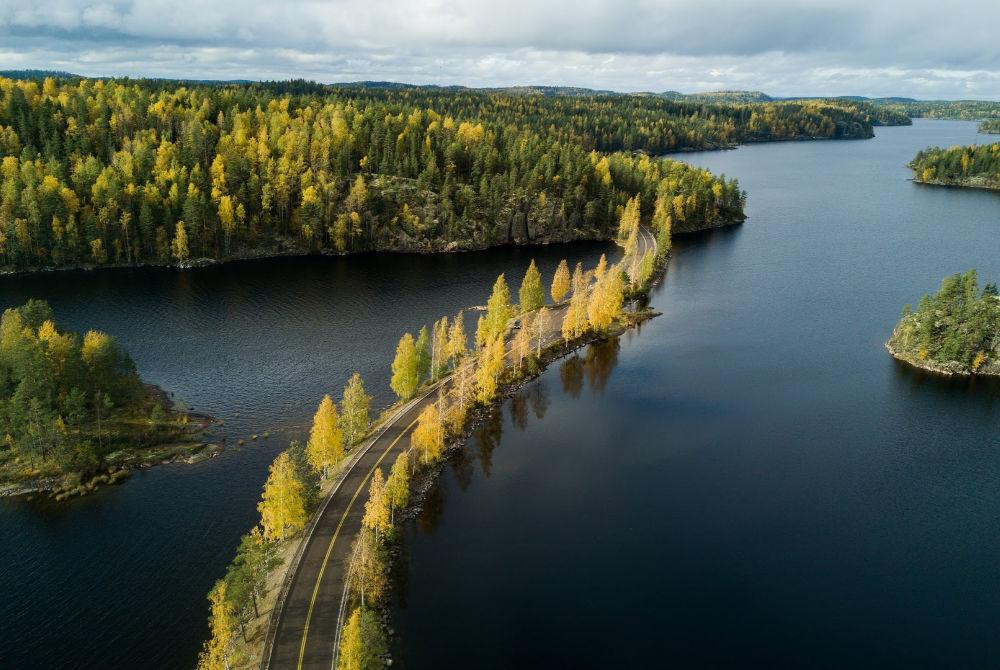 Visit Saimaa_aerial shot_autumn