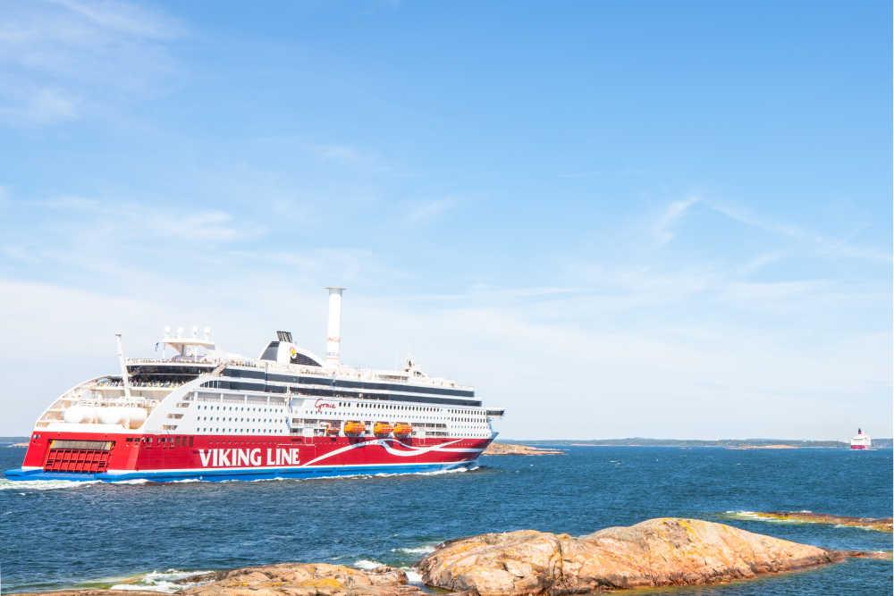Viking Grace at sea