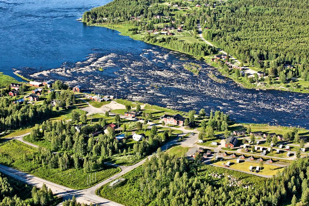VAE Summer 4 Kukkolaforsen from the air