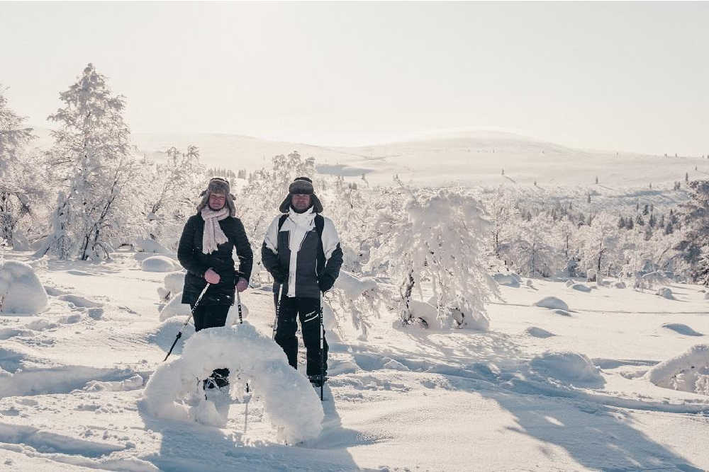 Inari-Saariselka tourism-snowshoeing-winter-lapland-copyright-mikael-kunnari