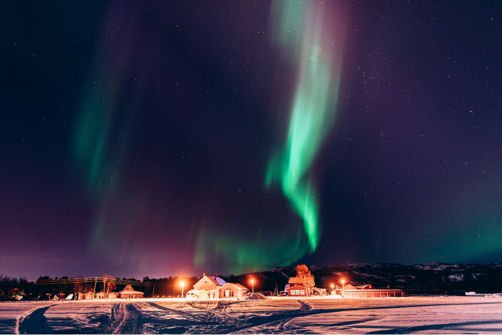 Holmen Husky Lodge in winter