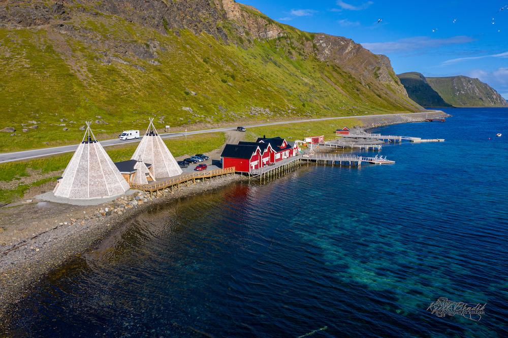 VAE Norway Destinasjon 71 Grader Nord Drohnenaufnahme
