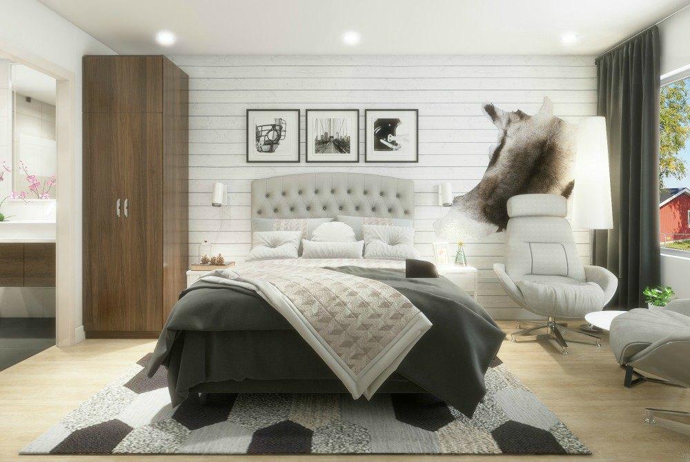 Kukkolaforsen-neues Hotel-Zimmer